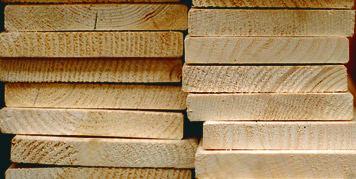 hout met maatverschillen